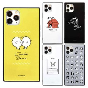 iPhone 11 Pro 対応 ケース ピーナッツ PEANUTS スクエアガラスケース|dresma
