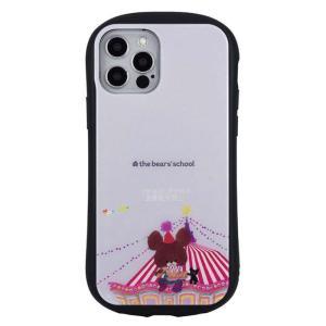 iPhone12 iPhone12Pro 対応 6.1インチ ケース カバー くまのがっこう ハイブリッドガラスケース|dresma