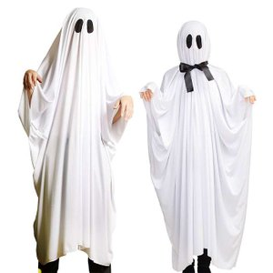 HW 2WAYてるてるおばけポンチョ コスチューム ハロウィン コスプレ 衣装 仮装 変装 てるてる ポンチョ おばけ 白 男女兼用|dresma