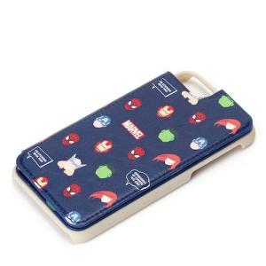 iPhone 7/6s/6用バックフリップケース MARVEL マルチキャラクター ネイビー PGA PG-DCS236NV|dresma