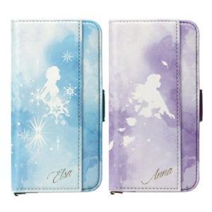 iPhone 11 Pro 5.8インチ 対応 ケース カバー アナと雪の女王2 ダブルフリップカバー 手帳型 二つ折り アナ雪2 アナ エルサ ディズニー|dresma