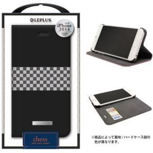 値下 LEPLUS iPhone6s Plus/iPhone6 Plus用 CHESS デザインPUレザーカバー ブラック LP-IP65DLCHBK dresma