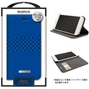 値下 LEPLUS iPhone6s Plus/iPhone6 Plus用 CHESS デザインPUレザーカバー ブルー LP-IP65DLCHBL dresma
