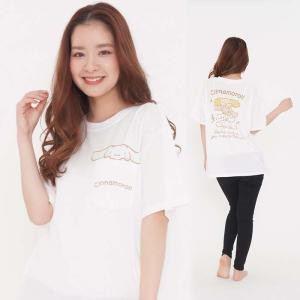 レディースサイズ 半袖Tシャツ タテノリシナモン サンリオキャラクターズ Tシャツ プリントTシャツ|dresma