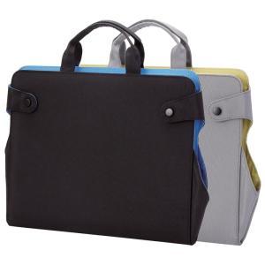 タブレット専用クリアポケット付きブリーフケースタイプの薄型タ...