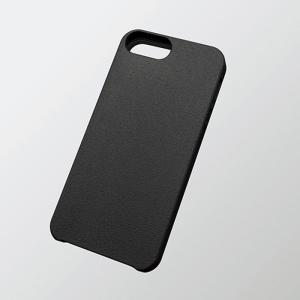iPhoneSE/5s/5 アイフォンSE/5s/5 ケース/カバー シリコンケース グリップ ブラック  エレコム PS-A12SCRBKN|dresma