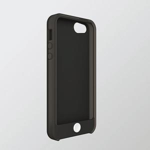 iPhoneSE/5 アイフォンSE/5 ケース/カバー カラフルシリコンケース ブラック エレコム PS-A12SC2BK|dresma