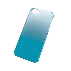 iPhoneSE/5s/5 アイフォンSE/5s/5 ケース/カバー シェルカバー グラデーション クリア×ブルー エレコム PS-A12PVWCBU|dresma