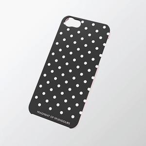 iPhoneSE/5s/5 アイフォンSE/5s/5 ケース/カバー シェルカバーfor Girl ドット(ブラック) エレコム PS-A12PVG04|dresma