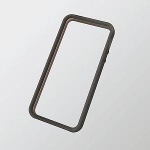 iPhoneSE/5s/5 アイフォンSE/5s/5 ケース/カバー ソフトバンパー ブラック エレコム PS-A12UBBK|dresma