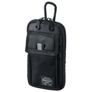 リュックベルト 腰ベルト カバンにも取付けできる ポケット付マルチガジェットケース(Sサイズ・ブラック) サンワサプライ PDA-SPC20BK|dresma