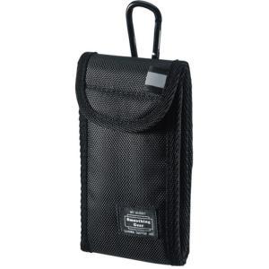 リュックベルト 腰ベルトにも取付けできる マルチガジェットケース(Sサイズ・ブラック) サンワサプライ PDA-SPC25BK|dresma
