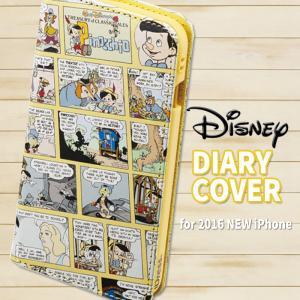 iPhone7 ケース ディズニー ダイヤリーカバー(ピノキオ)Pinocchio Disney ピノッキオ サンクレスト iP7-DN07|dresma