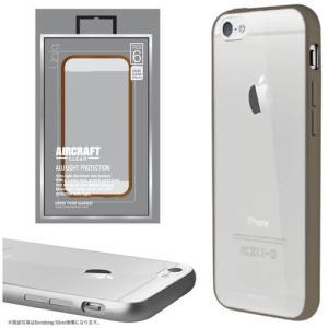 値下 Uniq iPhone6/Aircraft Clear/Titan Bronze(側面:アルミニウムバンパー)(背面:TPU) IP6HYBACRCBRZ|dresma