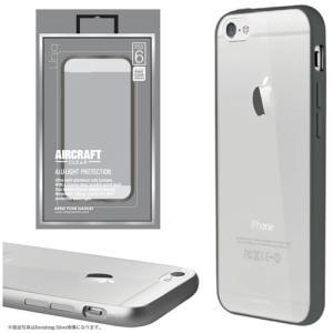 値下 Uniq iPhone6/Aircraft Clear/Cool Gunmetal(側面:アルミニウムバンパー)(背面:TPU) IP6HYBACRCGMT|dresma