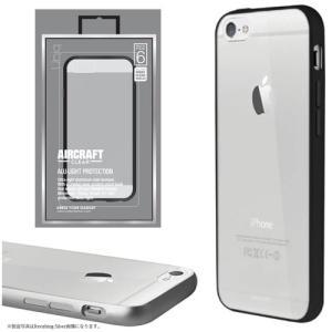 値下 Uniq iPhone6/Aircraft Clear/Metal Black(側面:アルミニウムバンパー)(背面:TPU) IP6HYBACRCBLK|dresma