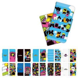 iPhone/らくらくスマートフォン/AQUOS 手帳型 ケース カバー かじりモンスター KAJIMON(カジモン) ドレスマ TH-SMALL-KAT-WHA|dresma