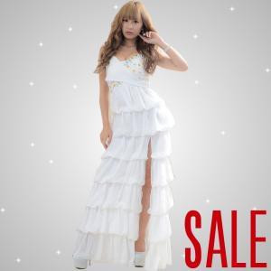 ドレス ロングドレス あすつく セール ゴージャスシフォンロ...