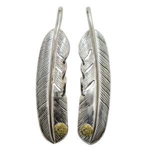インディアン×TADY&KINGコラボ  特大フェザーGPインディアン フェザー ネックレス メンズ シルバー925 ペンダント トップ メンズアクセサリー|dress-r
