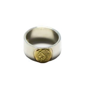インディアン×TADY&KINGコラボシリーズ 平打ちリングGPインディアン(10mm) シルバー925 リング 指輪 メンズ アクセサリー シルバーリング|dress-r