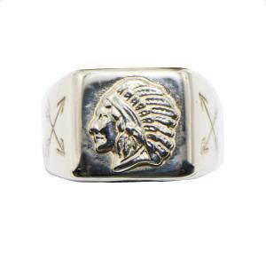インディアン×TADY&KINGコラボ インディアン印台リングSV シルバー925 リング メンズ 指輪 シルバー シルバーリング dress-r レジスト原宿|dress-r