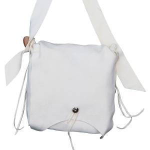 タディアンドキング TADY&KING ゴローズ魂継承 特注アイテム ディアスキンショルダーバッグ 3 ホワイト バッグ レザーバッグ 本革 鞄 メンズ ブランド dress-r