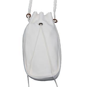 タディアンドキング TADY&KING ゴローズ魂継承 ディアスキン コンチョ付巾着バッグ ホワイト 特大 バッグ レザーバッグ 本革 レディース メンズ ブランド dress-r