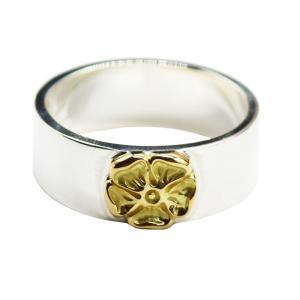 tady&king タディアンドキング goro's ゴローズ魂継承 平打ちリングGPローズ シルバー925 リング 指輪 メンズ 指輪 ブランド シルバーリング dress-r