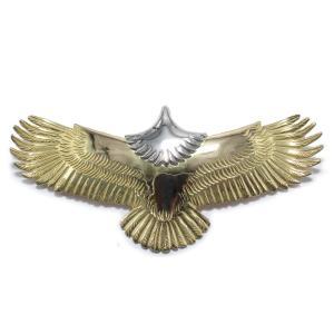 tady&king タディアンドキング goro's ゴローズ魂継承 特大イーグル全金 頭プラチナ メンズ eagle イーグル ペンダント K18 イーグルネックレス 18k dress-r