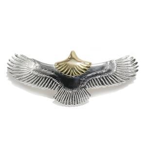 タディアンドキング TADY&KING ゴローズ魂継承 ベビーイーグル頭金 eagle K18 ペンダント イーグルネックレス フェザー ネックレス メンズ 18k 鷲 鷹 翼 dress-r