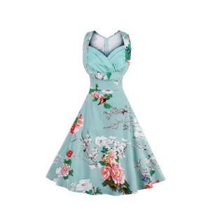 スリップ 1950 オードリーヘップバーン 花 ドレス ワンピース レディース 服|dressheaven