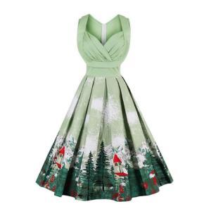 ハニー レトロ プラス スイング 1950 ドレス ワンピース シャーリング 胸|dressheaven