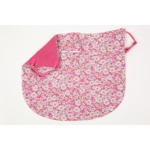 UVカットフェイスマスク 紫外線防止用ドレスマスク スリム ガーデンリバティ 光触媒・高機能性素材と綿タナローンを合わせ縫い アリス(ピンク)|dressmask-drema