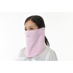 UVカットフェイスマスク 紫外線防止用ドレスマスク お肌に優しいストレスフリー スリット楽呼吸 光触媒・高機能素材二重仕立 プライムローズ/ウォーターピンク|dressmask-drema