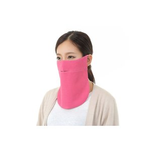 UVカットフェイスマスク 保湿と紫外線防止用 ドレスマスク スリム シルク 色とサイズをオーダーメイド 二枚重ね ピンクフランベ|dressmask-drema