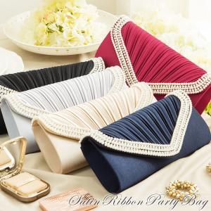 パーティーバッグ 大きめ クラッチ 結婚式 2way パーティー ハンドバッグ ショルダー 5色選べる レディース 小物 ファッション|dressstar