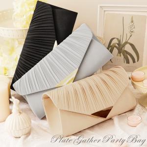 パーティーバッグ 大きめ シルバー クラッチ 普段使い 結婚式 メタル フレーム 金具 プリーツ パーティー 三角 プレート プリーツ サテン|dressstar