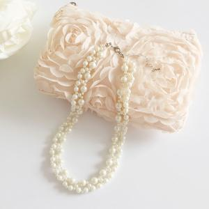 ネックレス パール ロング 結婚式 パーティー レディース ビジュー シンプル 上品 首飾り Necklace お呼ばれ|dressstar