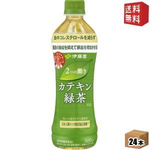 送料無料 伊藤園 2つの働き カテキン緑茶 500mlペットボトル 24本入 [二つの働き]|drink-cvs