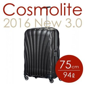 サムソナイト コスモライト 3.0 75cm ブラック Cosmolite V22-09-304 『送料無料』※北海道・沖縄・離島を除く|drinkmarchais