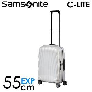 サムソナイト C-LITE シーライト スピナー 55cm EXP オフホワイト Samsonite C-lite 134679-1627|drinkmarchais