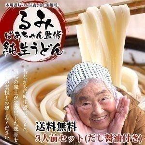 池上製麺所 るみばあちゃん 監修 純生 讃岐うどん 3人前 ...