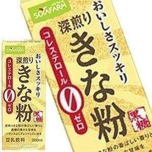 ソヤファーム おいしさスッキリきな粉豆乳飲料 200ml紙パック×24本 [賞味期限:製造より120...