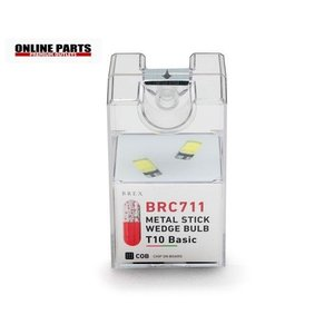 ブレックスLED BREX ブレックス メタルスティックウェッジバルブ T10 LED 白色 2灯セット [品番:BRC711]|drive