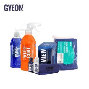 ジーオン GYEON カーケアセット A-キット 撥水シャンプー 撥水コート ふき取りタオル ガラスコーティング 洗車セット|drive
