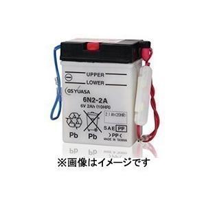 6N12A-2C GS ユアサ 開放型 6V車用 液注入 充電済 バイク用バッテリー【取寄商品】