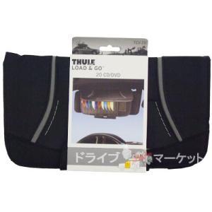 THULE スーリー サンバイザーにCD・DVDを収納(20枚) TH-TCV-20 CDバイザー20 THULE LOAD&GOシリーズ 【取寄商品】|drivemarket