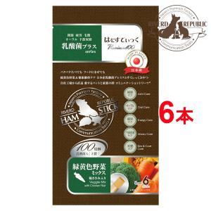 【直送便】小動物 おやつ はむすてぃっく 乳酸菌プラス Premium100 緑黄色野菜ミックス 6本入 日本産【素材100%/えさ/国産/ペットフード】|drjpet