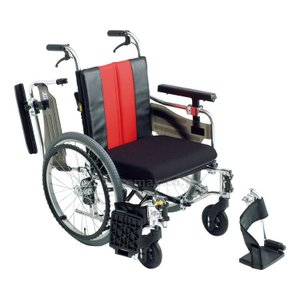 【※法人・施設限定・送料別途】アルミ自走車いすMM-FitLo20/座幅40cmグレー(S7W8)(cm-254193)[1台]|drmart-1