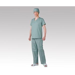 8-2210-01 タフクロス手術用下着  上衣・V型 ブルーM シュジュツヨウシタギ2032Vガタブル-M NI053970 [枚]|drmart-2